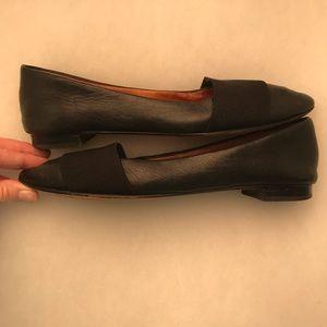 Halogen black pointy toe flats size 8